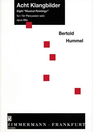 Eight Musical Paintings Opus 99a - Berthold Hummel - laflutedepan.com