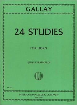24 Studies For Horn - Jacques-François Gallay - laflutedepan.com