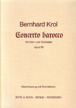 Concerto Barocco Opus 86 - Bernhard Krol - laflutedepan.com