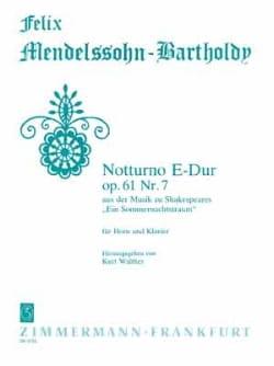 Notturno E-Dur Opus 61 Nr. 7 - MENDELSSOHN - laflutedepan.com
