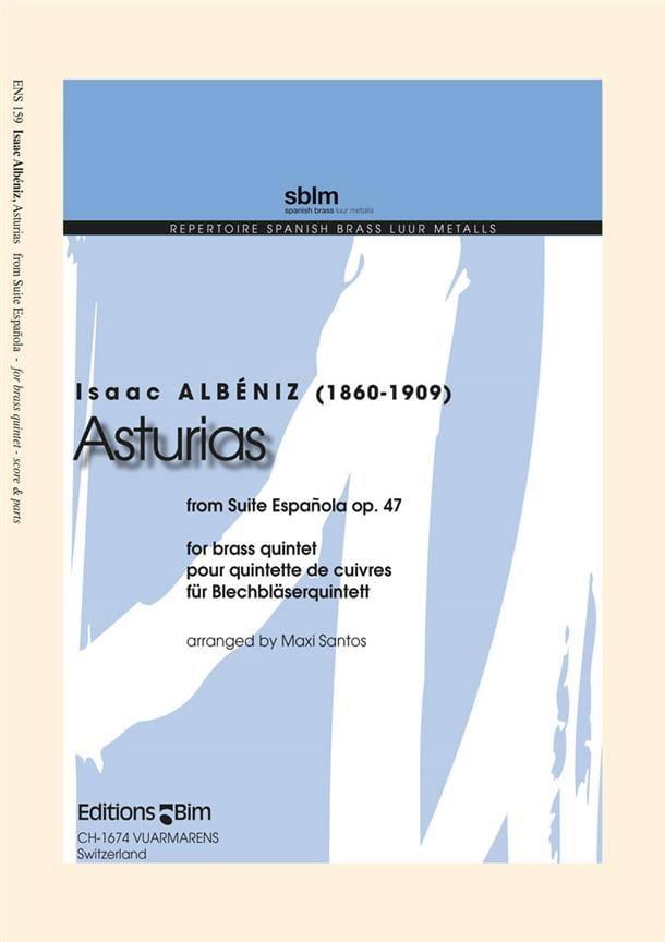 Asturias - From Suite Espagnola Opus 47 - ALBENIZ - laflutedepan.com