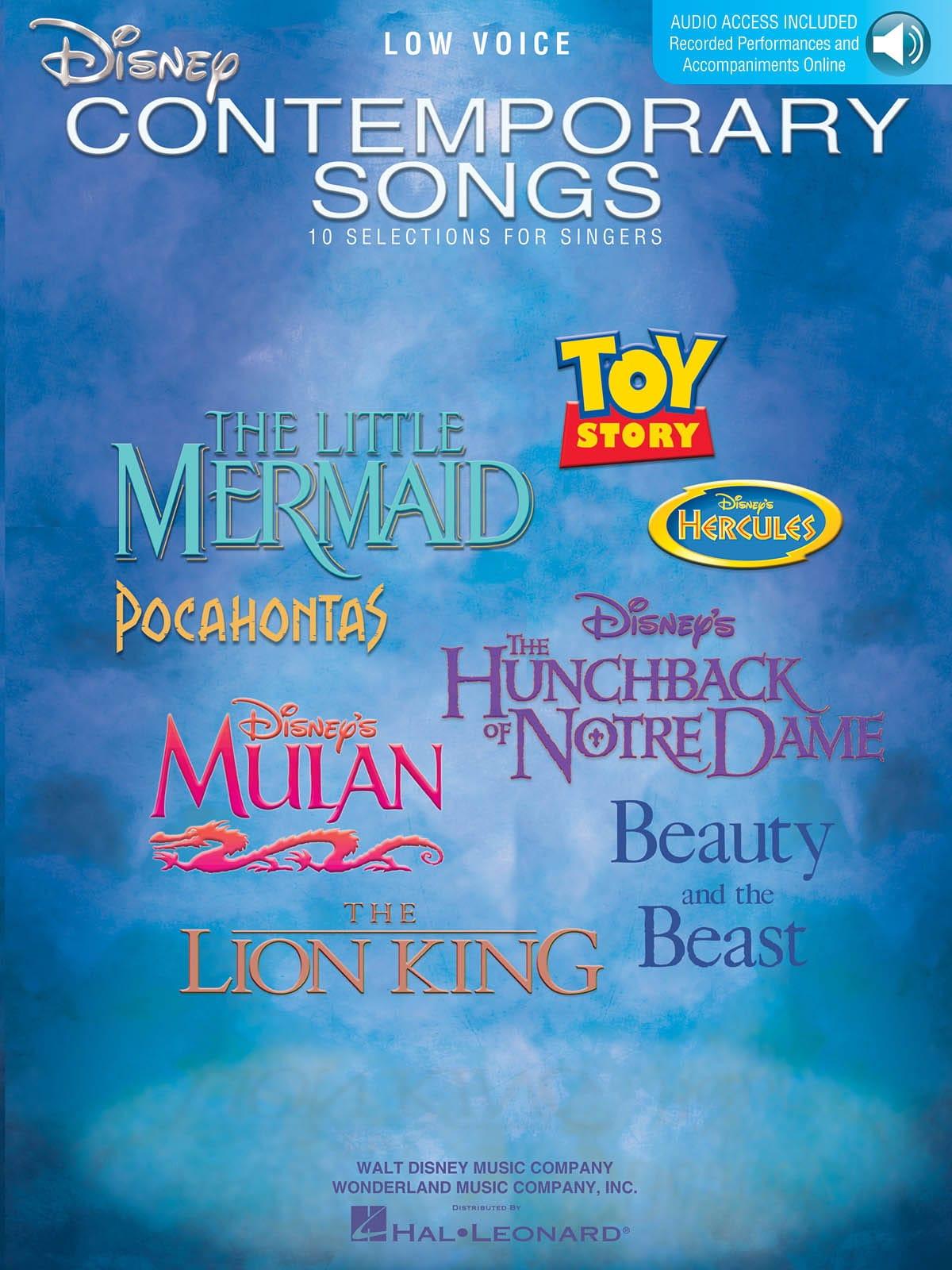 Disney Contemporary Songs - Low Voice - DISNEY - laflutedepan.com