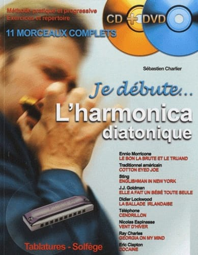 Je Débute l'Harmonica Diatonique - Partition - laflutedepan.com