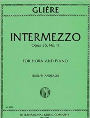 Reinhold Glière - Intermezzo Opus 35 N ° 11 - Partition - di-arezzo.com