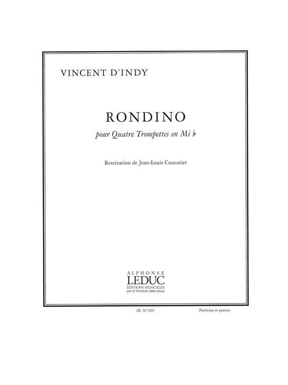 Vincent D' Indy - Rondino - Partition - di-arezzo.com