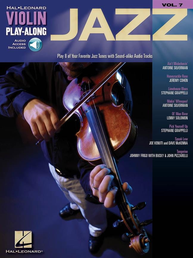 Violin play-along volume 7 - Jazz - Partition - laflutedepan.com