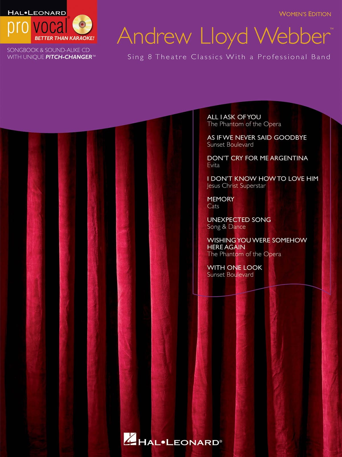 Andrew Lloyd Webber - Pro Vocal Women's Edition Volume 10 - Andrew Lloyd Weber - Partition - di-arezzo.co.uk