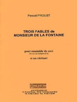 3 fables de Monsieur de la Fontaine - Pascal Proust - laflutedepan.com