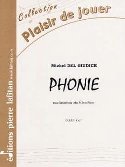 Phonie - Michel Del Giudice - Partition - Saxophone - laflutedepan.com