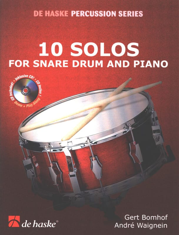 Bomhof Gert / Waignein André - 10 Solos For Snare And Piano Drum - Partition - di-arezzo.co.uk