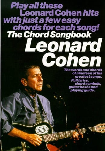 Leonard Cohen - The Chord Songbook - Partition - di-arezzo.com