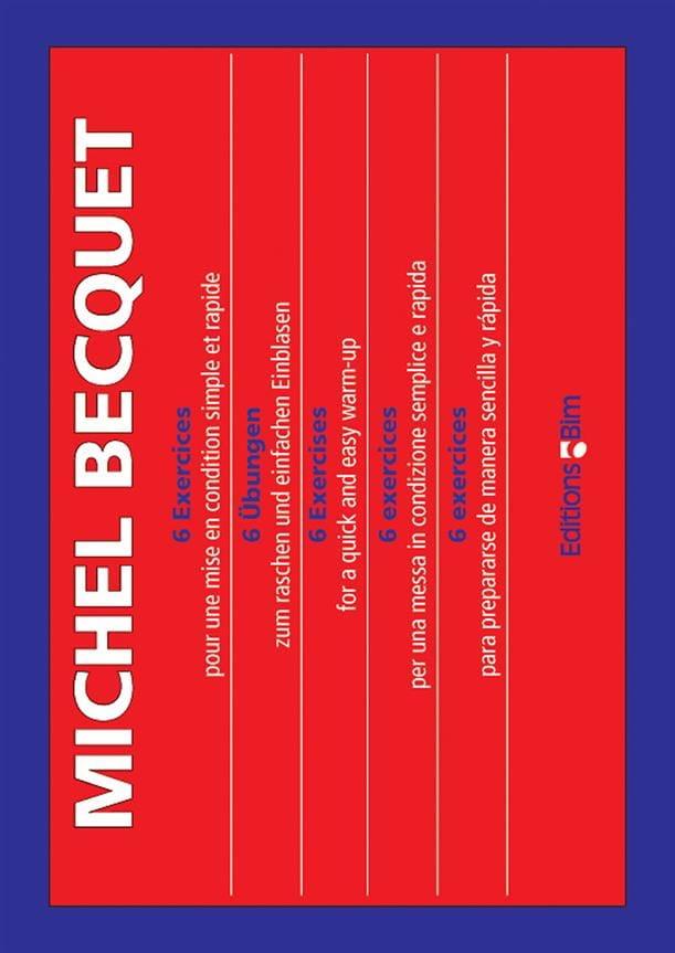 6 Exercices - Michel Becquet - Partition - Trombone - laflutedepan.com