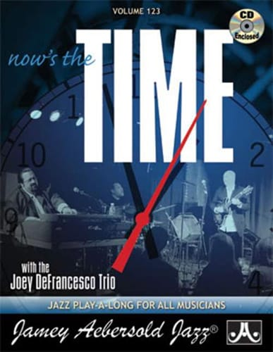 Volume 123 - Now's The Time - METHODE AEBERSOLD - laflutedepan.com