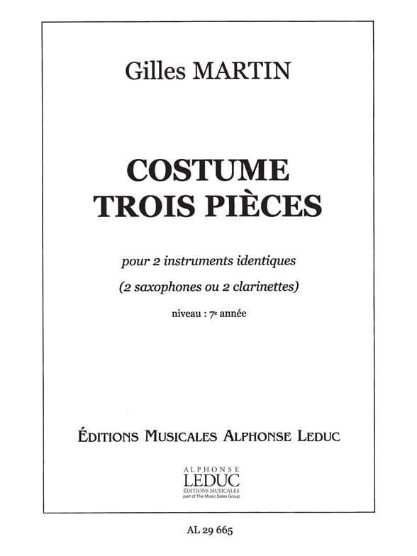 Costume Trois Pièces - Gilles Martin - Partition - laflutedepan.com