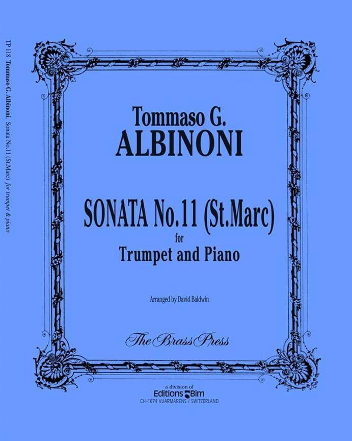 Tomaso Albinoni - Sonata N ° 11 St Marc - Partition - di-arezzo.com