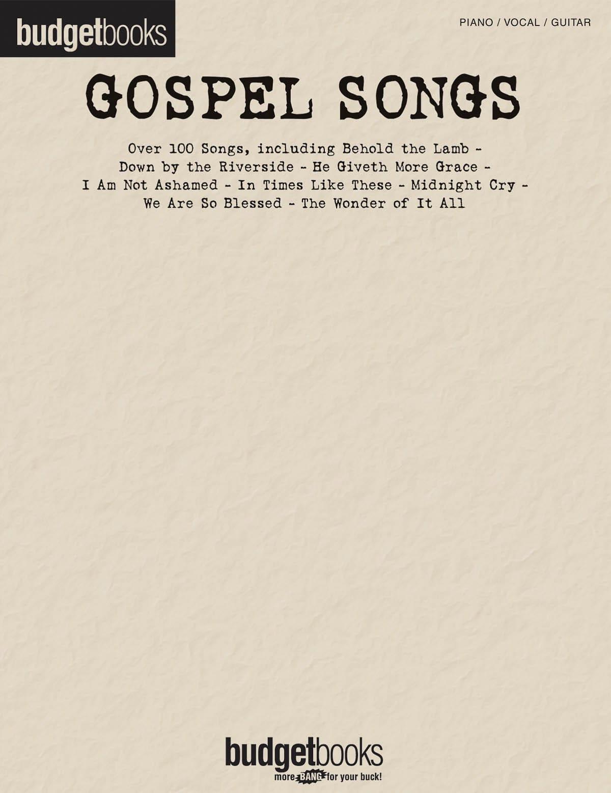 Budget books - Gospel songs - Partition - Jazz - laflutedepan.com