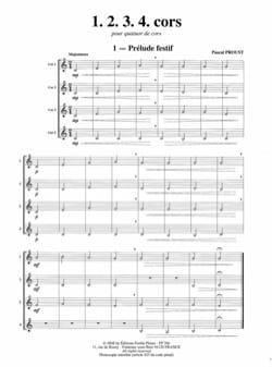 Pascal Proust - 1, 2, 3, 4 horns - Partition - di-arezzo.com