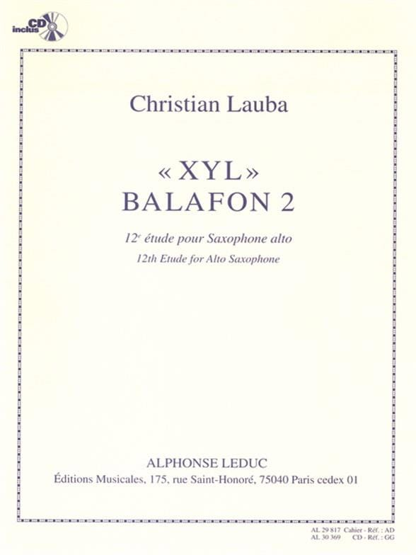 Christian Lauba - 12ème Etude - Xyl Balafon 2 - Partition - di-arezzo.fr