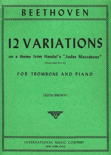 BEETHOVEN - 12 Variations - Partition - di-arezzo.com