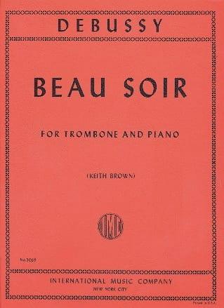 Beau Soir - DEBUSSY - Partition - Trombone - laflutedepan.com