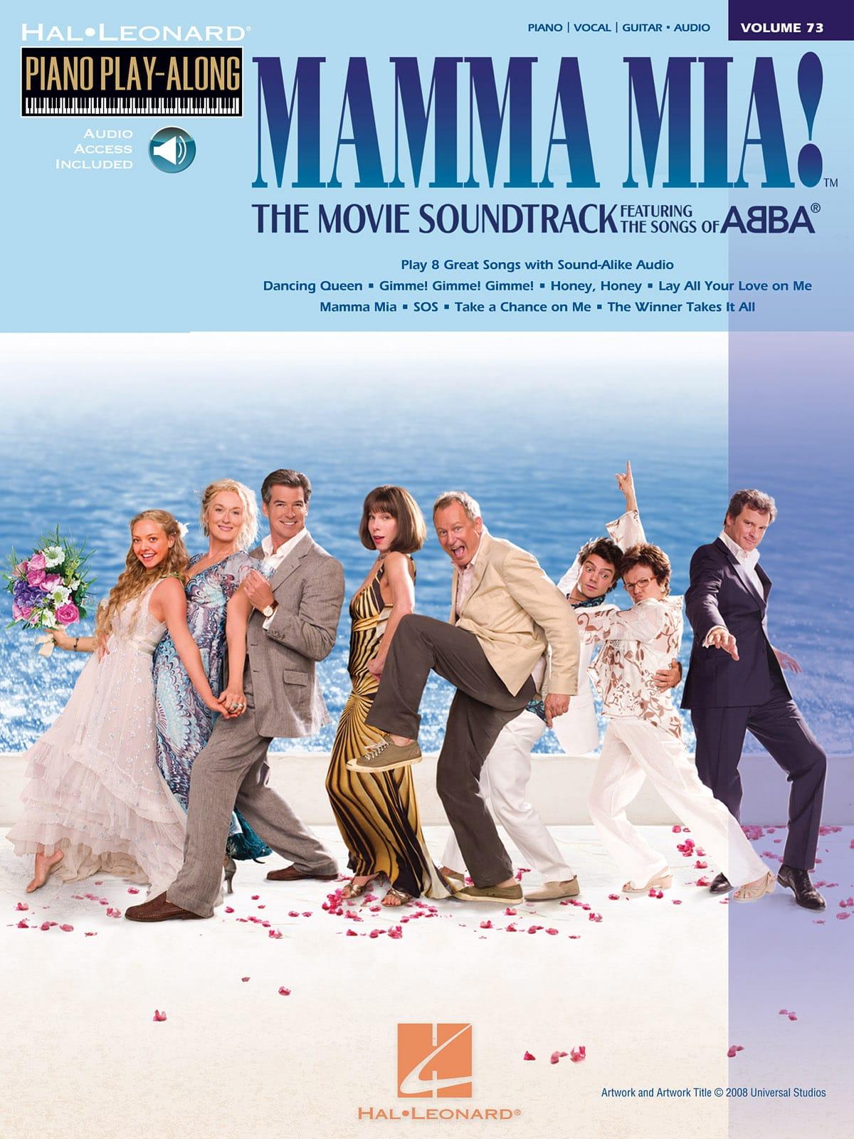 Piano Play-Along Volume 73 - Mamma Mia ! The Movie - laflutedepan.com