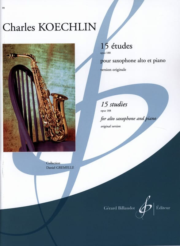 Charles Koechlin - 15 Etudes - Opus 188 - Partition - di-arezzo.co.uk