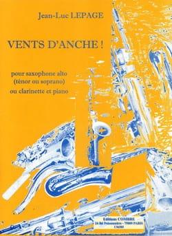 Vents d'anche! - Jean-Luc Lepage - Partition - laflutedepan.com