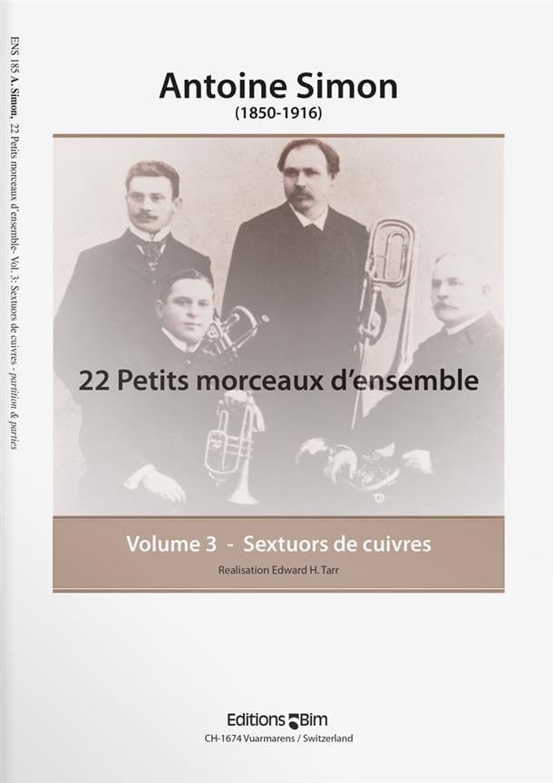 22 Petits Morceaux D' Ensemble Volume 3 - laflutedepan.com