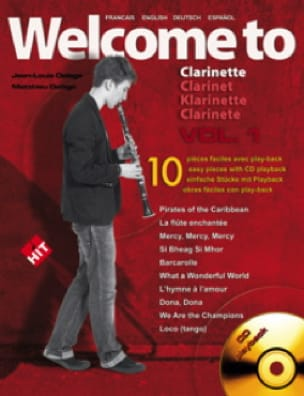 Welcome To Clarinette Volume 1 - Jean-Louis Delage - laflutedepan.com