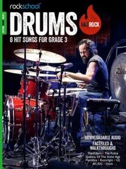Drums Hot Rock Grade 3 Rockschool - Partition - laflutedepan.com