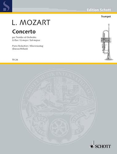 Leopold Mozart - Concierto en sol mayor - Partition - di-arezzo.es