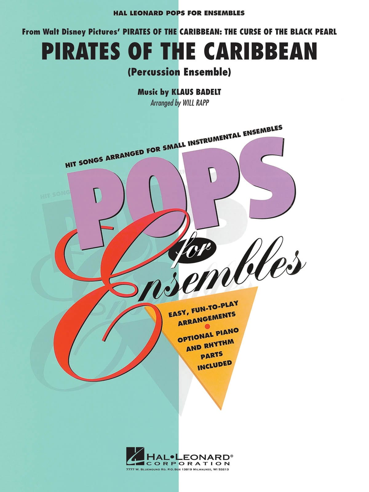 Pirates des Caraïbes 1 - La Malédiction du Black Pearl - Pops for Ensembles - laflutedepan.com