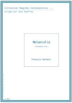 Melancolia - François Narboni - Partition - laflutedepan.com