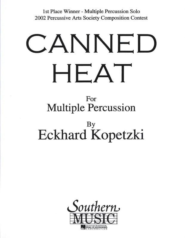 Canned heat - Eckhard Kopetzki - Partition - laflutedepan.com
