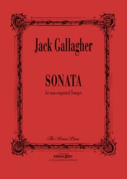 Sonata - Jack Gallagher - Partition - Trompette - laflutedepan.com