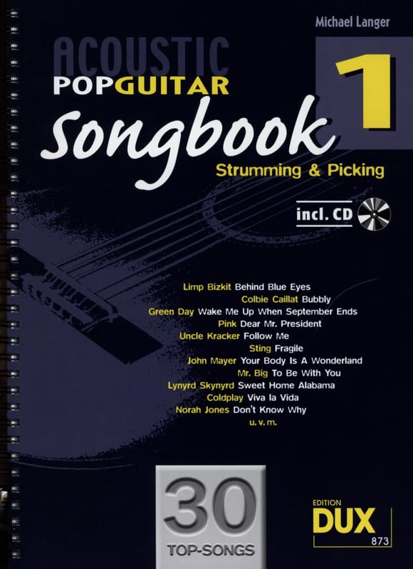 Acoustic pop guitar songbook volume 1 - laflutedepan.com