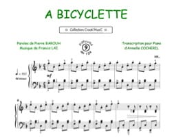 A Bicyclette - Francis Lai - Partition - laflutedepan.com