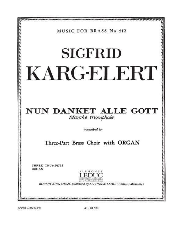 Sigfrid Karg-Elert - Nun Danket Alle Gott - Partition - di-arezzo.co.uk