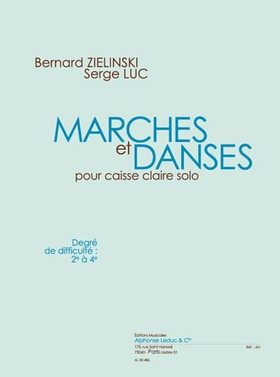 Marches Et Danses - Zielinski Bernard / Luc Serge - laflutedepan.com