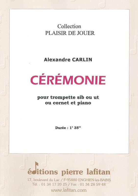 Ceremonie - Alexandre Carlin - Partition - laflutedepan.com