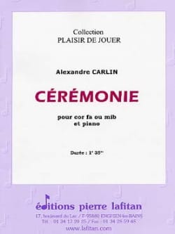 Ceremonie - Alexandre Carlin - Partition - Cor - laflutedepan.com