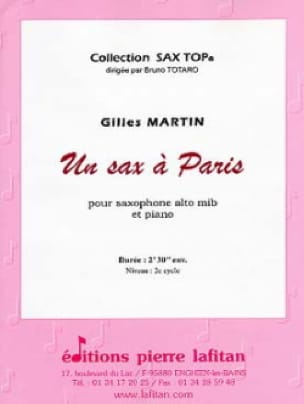 Gilles Martin - A Sax in Paris - Partition - di-arezzo.com