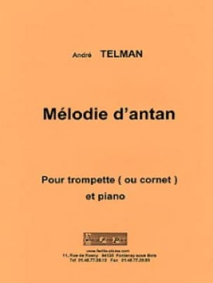 André Telman - Melody of yesteryear - Partition - di-arezzo.co.uk