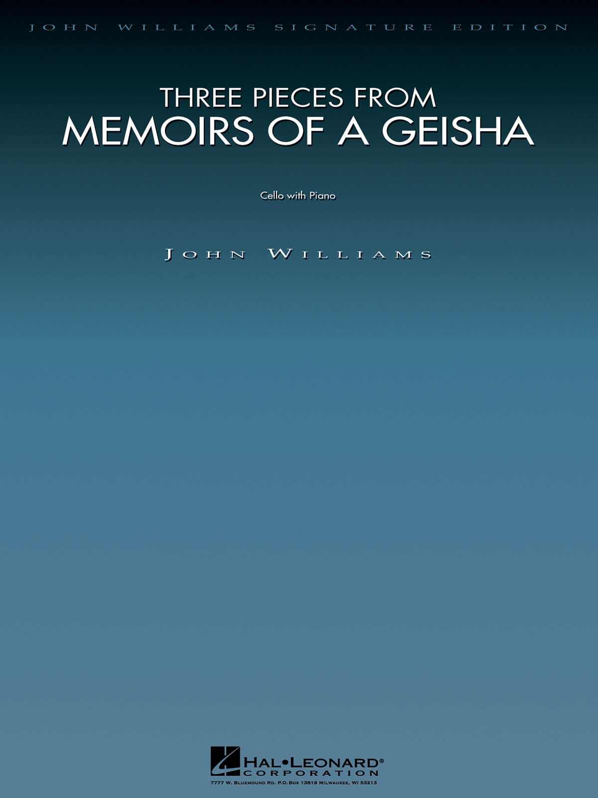 John Williams - Three Pieces From Memoirs Of A Geisha - Partition - di-arezzo.co.uk