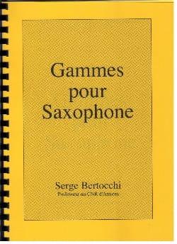 Serge Bertocchi - Saxophone Ranges - Partition - di-arezzo.co.uk