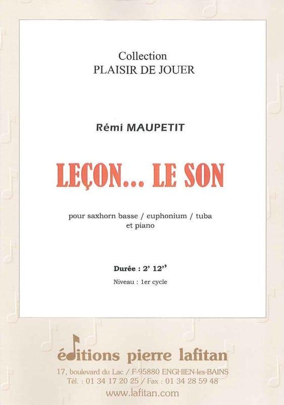 Leçon... le Son - Rémi Maupetit - Partition - Tuba - laflutedepan.com