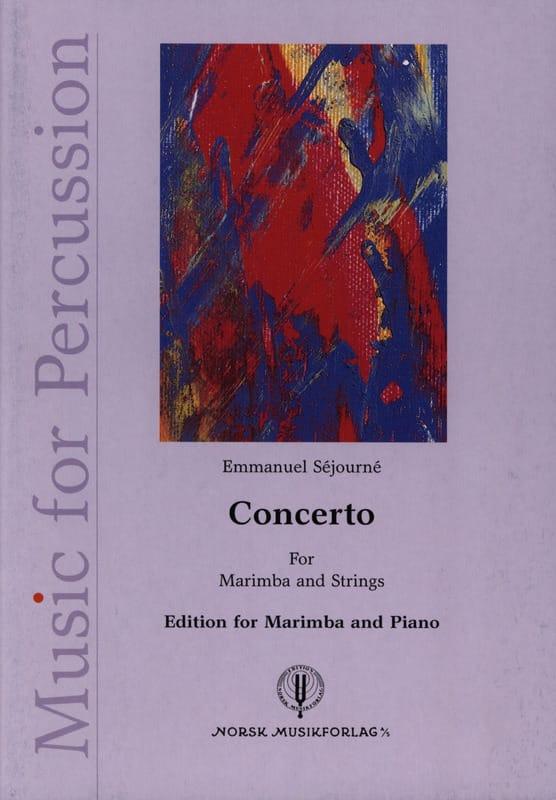 Emmanuel Séjourné - Concerto for marimba et orchestre à cordes - Partition - di-arezzo.fr