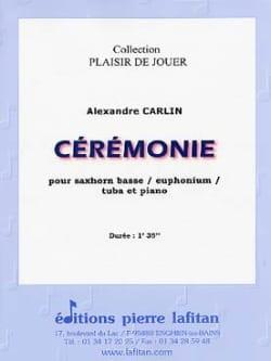 Ceremonie - Alexandre Carlin - Partition - Tuba - laflutedepan.com