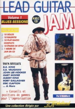 Jean-Jacques Rébillard - Lead guitar Jam volume 1 - Blues sessions - Partition - di-arezzo.co.uk