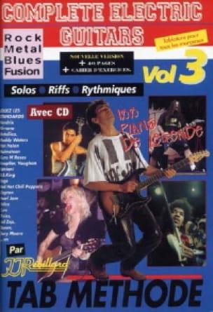 Jean-Jacques Rébillard - Complete electric guitars volume 3 - Partition - di-arezzo.fr